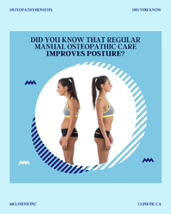 Did you know that regular manual osteopathic care improves posture?