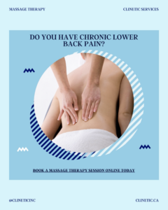 Does chronic lower back pain affect you?
