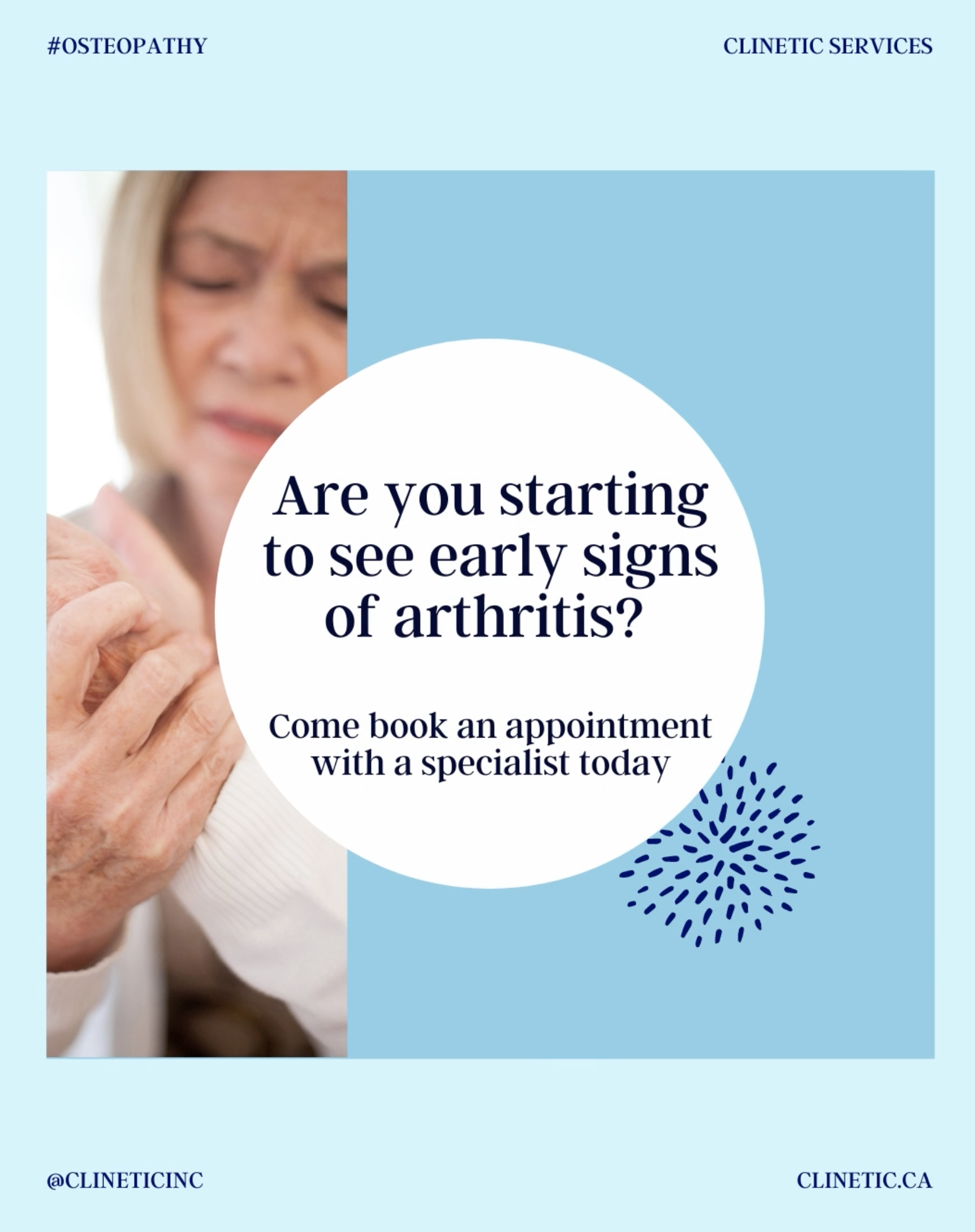 Are you starting to see early signs of arthritis?