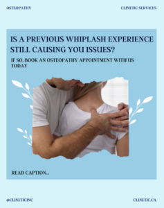 Is a previous whiplash experience still causing you issues?