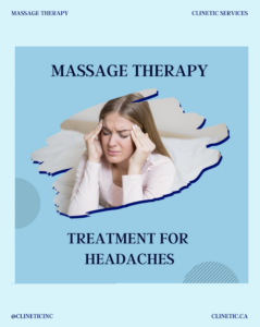 Massage therapy treatment for headaches