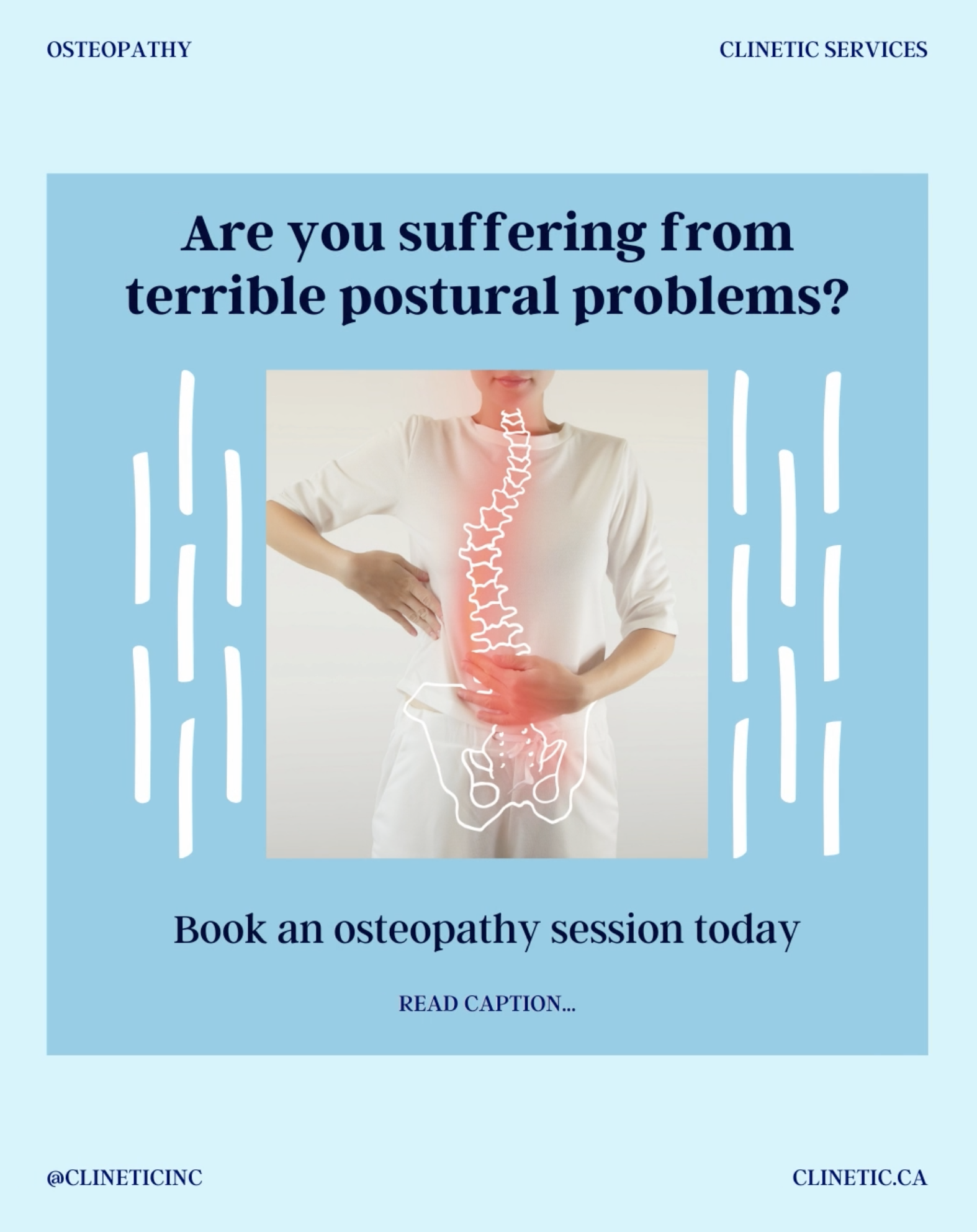 Are you suffering from terrible postural problems?