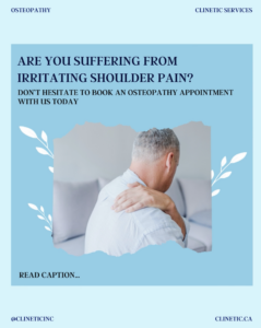 Are you suffering from irritating shoulder pain?