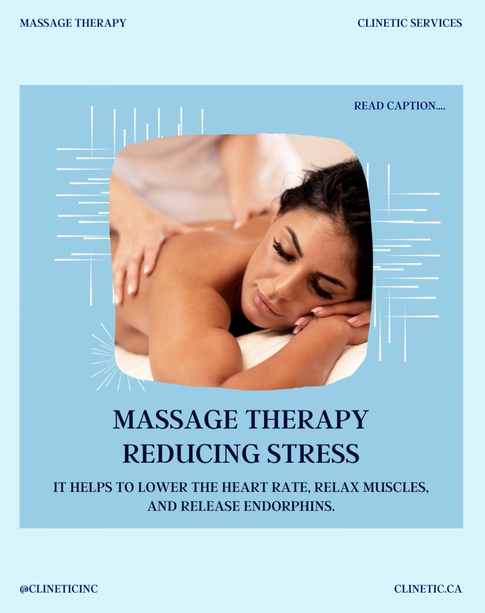 Massage Therapy Reducing Stress