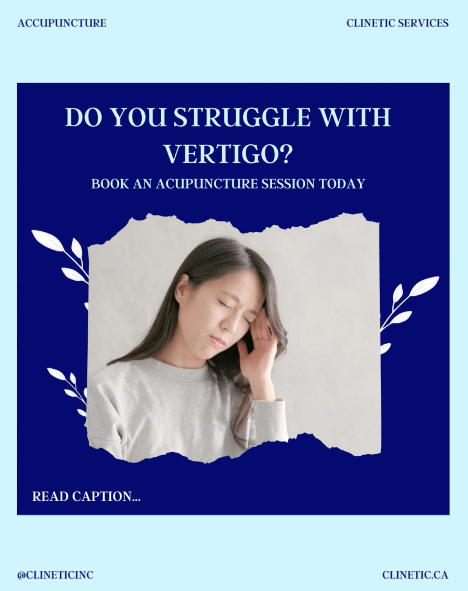 Do you struggle with vertigo?