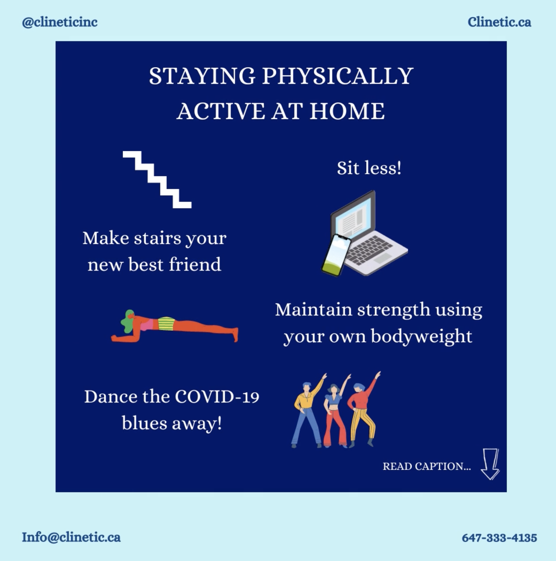 Staying physically active at home